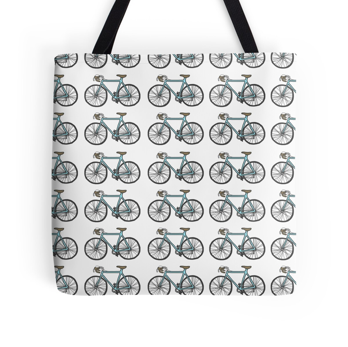 Tote bag drawing - Drawing Of A Bike Fixed Gear Wallpaper Design By Idrawthings