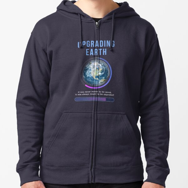 Upgrading Earth Title Book Cover Artwork Zipped Hoodie