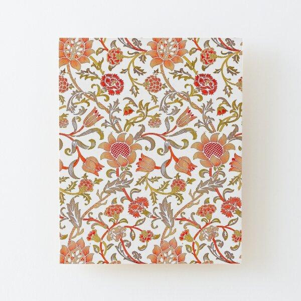William Morris Evenlode Textile Pattern on White Wood Mounted Print