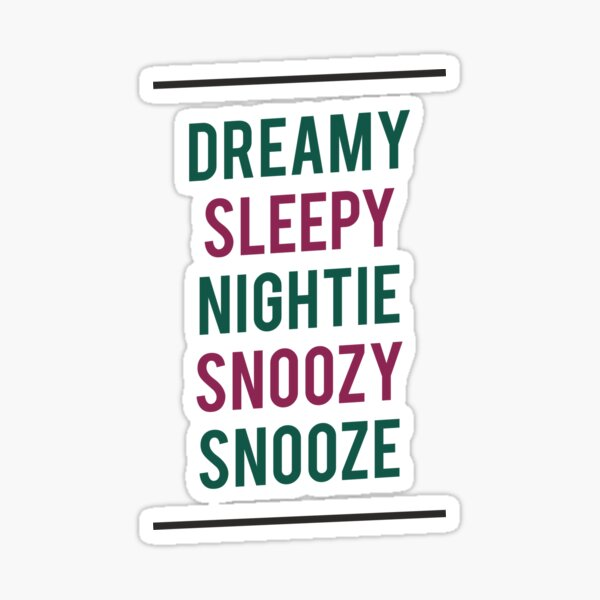 FATHER TED - DREAMY SLEEPY NIGHTIE SNOOZY SNOOZE Sticker