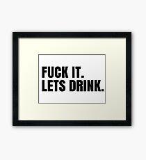 Party Hard Drink Cool Design Framed Print