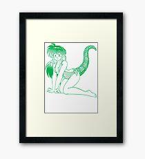 Tail (green variant) Framed Print