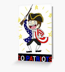 Patriots-Matthew the Patriot Greeting Card