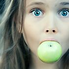 Little Girl With Green Apple by Olga Altunina