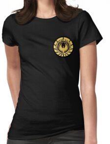 Battlestar Galactica Golden Logo Womens Fitted T-Shirt