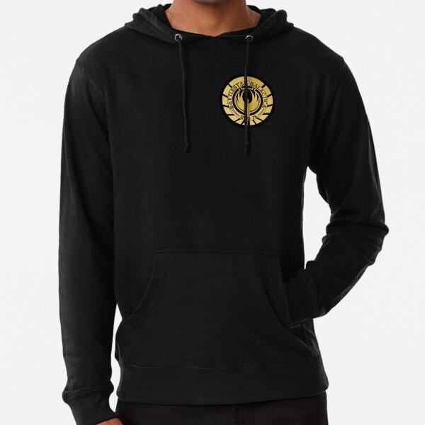 Battlestar Galactica Golden Logo Lightweight Hoodie