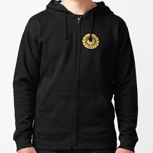 Battlestar Galactica Golden Logo Zipped Hoodie