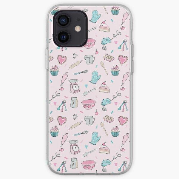 Pink Baking Pattern iPhone Soft Case