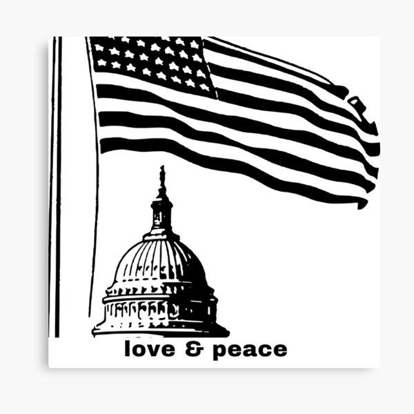 love & peace capitol Canvas Print