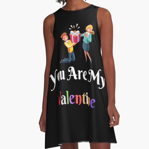 you are my valentine gift valentine lovers A-Line Dress