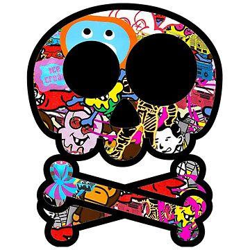 Skull Sticker Bomb by Nowonart