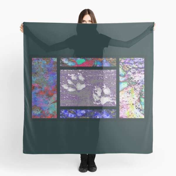 Paw Prints Collage Scarf