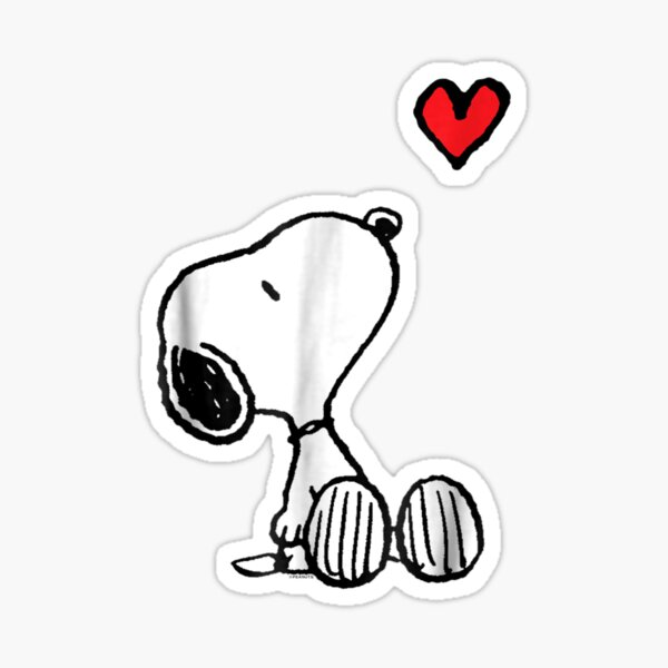 Peanuts Heart Sitting Snoopy T Shirt Sticker