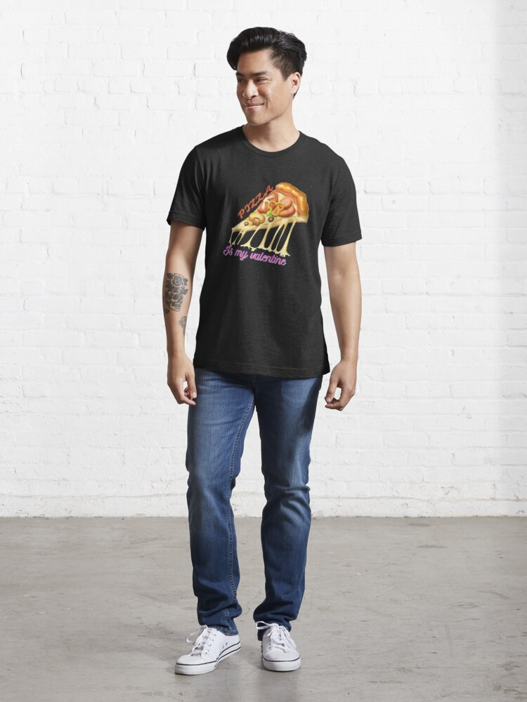 Alternate view of Pizza Is My Valentine Essential T-Shirt Essential T-Shirt