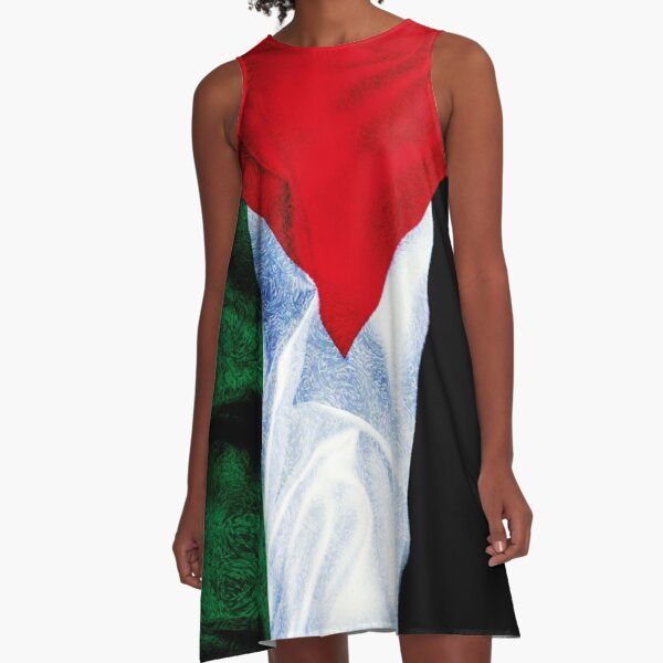 Palestine Flag  A-Line Dress