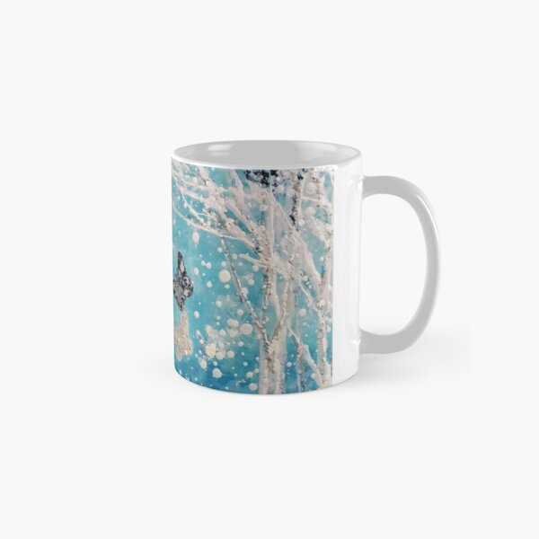Butterfly winter fantasy image Classic Mug