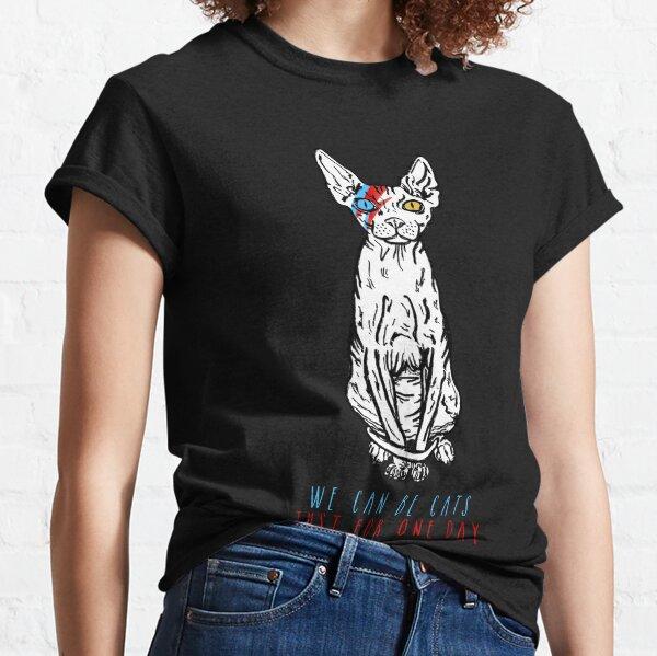 Rebel Rebel Cat Camiseta clásica