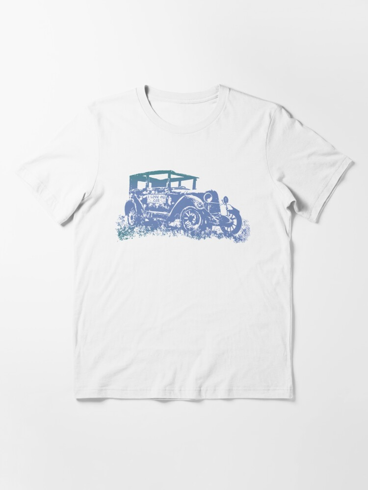 Alternate view of Vintage Old Car and I love My Car Graphics Car Illustration Essential T-Shirt