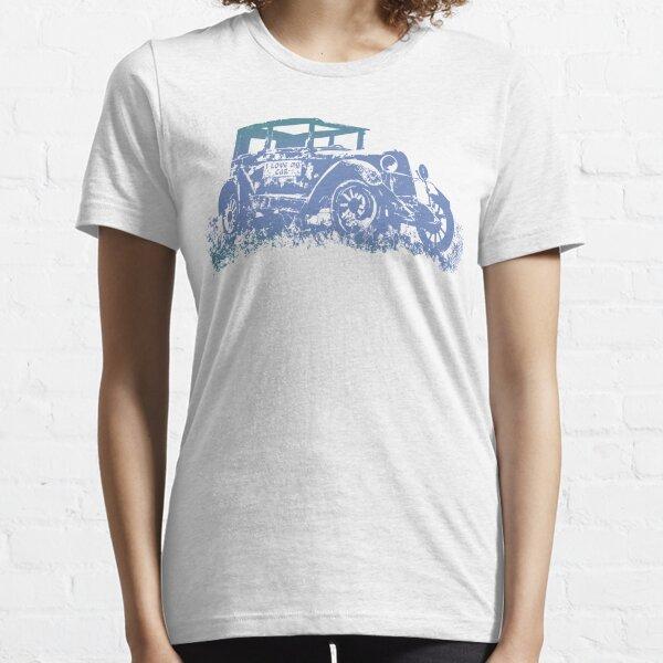 Vintage Old Car and I love My Car Graphics Car Illustration Essential T-Shirt