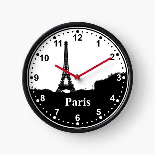 Paris Wall Clock. Paris Time Zone. Clock