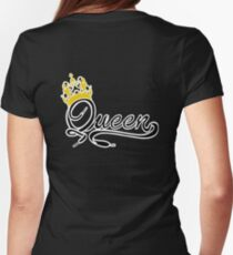 Queen (Black) The Hers of the His and Hers Womens Fitted T-Shirt