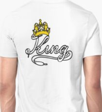 KING (White) The His of The His and Hers couple shirts Unisex T-Shirt