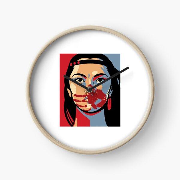 Indigenous T-Shirt MMW Awareness Indigenous Woman Art Stolen Sisters Clock