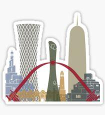 Doha skyline poster Sticker