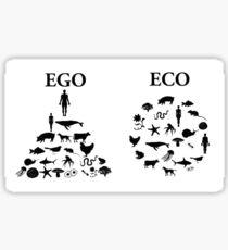 Eco vs. Ego Sticker