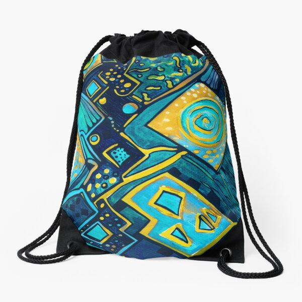 GALAXY SPARKLES BLUE Drawstring Bag