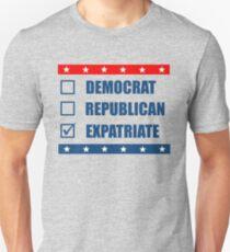 Election Democrat Republican Expatriate Slim Fit T-Shirt