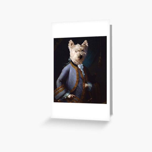 Darling Westie as Child Mozart Greeting Card