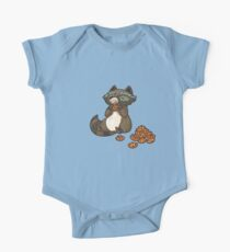Funny little raccoon eating cookies Kids Clothes