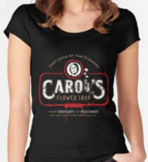 Carol's Flower Shop - Look At The Flowers! Women's Fitted Scoop T-Shirt