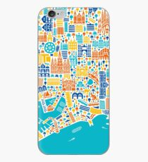 Barcelona City Map Poster iPhone Case