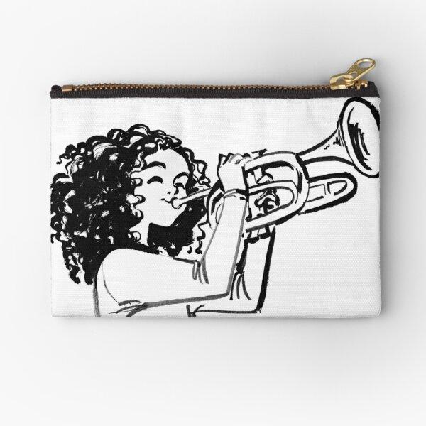 Trumpet Girl Zipper Pouch