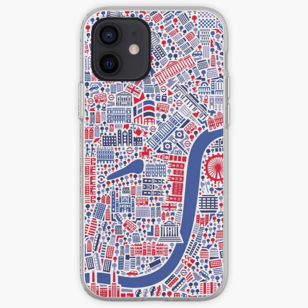 London City Map Poster iPhone Soft Case