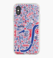 London City Map Poster iPhone Case