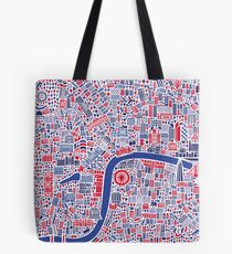 London City Map Poster Tote Bag