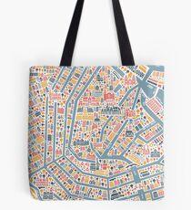 Amsterdam City Map Tote Bag