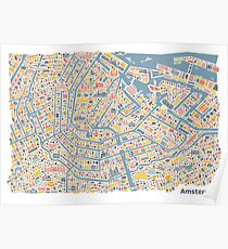 Amsterdam City Map Poster