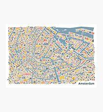 Amsterdam City Map Photographic Print
