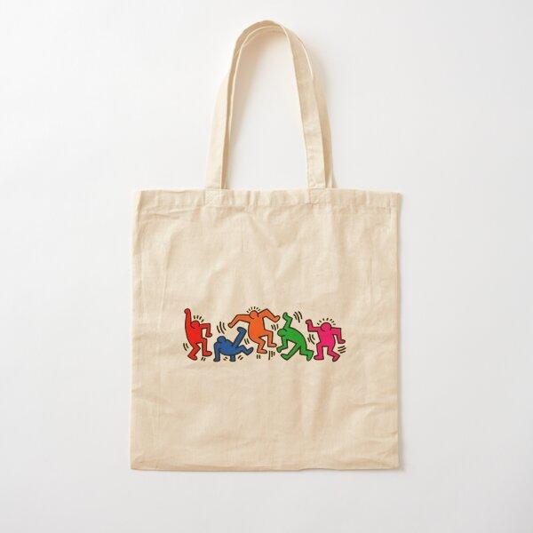 dancing together pop art Cotton Tote Bag