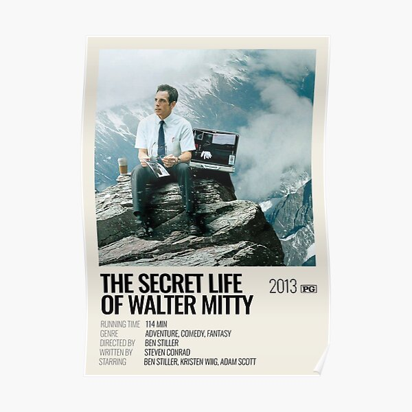 The Secret Life of Walter Mitty (2013) movie poster Poster