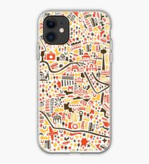 Berlin City Map iPhone Case