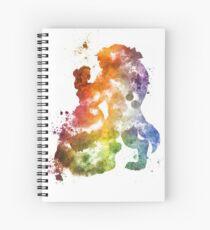 Beauty & The Beast Watercolour Design Spiral Notebook