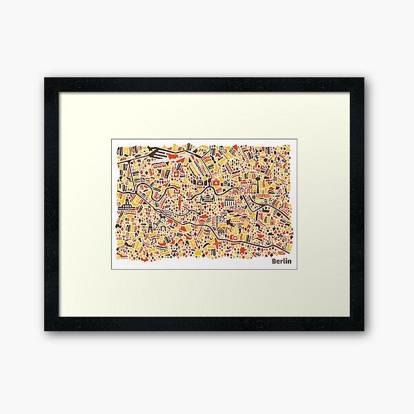 Berlin City Map Framed Art Print
