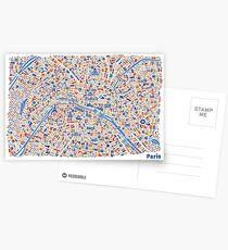 Paris City Map Postkarten