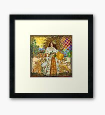 Fine Art Vintage Medieval Portrait Collage Woman Framed Print
