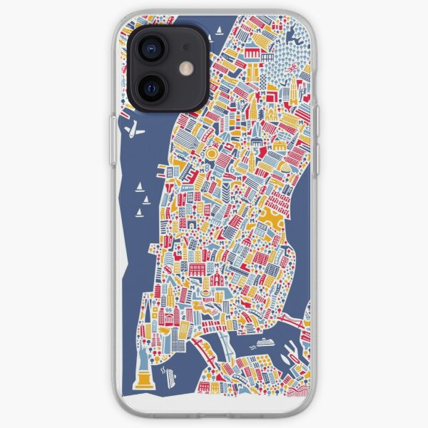 New York City Map iPhone Soft Case